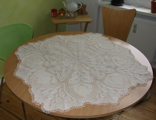 Lyra Doily finished