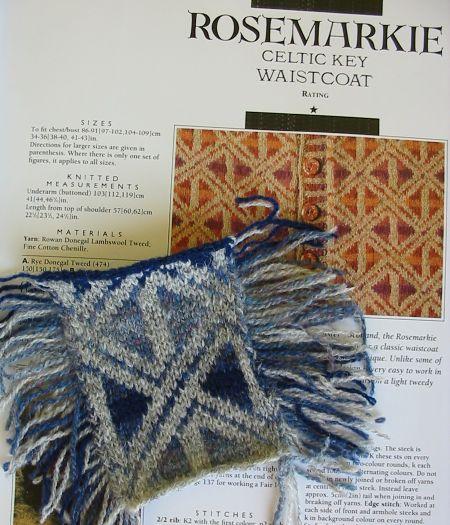 Rosemarkie Vest von Alice Starmore - Swatch