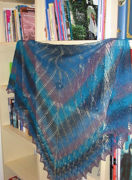 Icarus Shawl finished