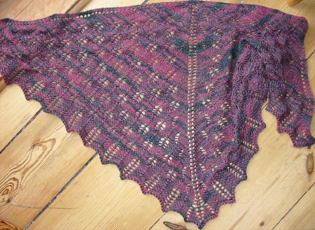 Fircone Triangle Shawl