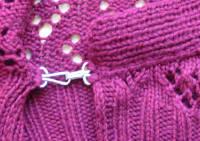 Arisaig cardigan - hook closure