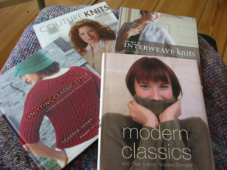 Various knitting books