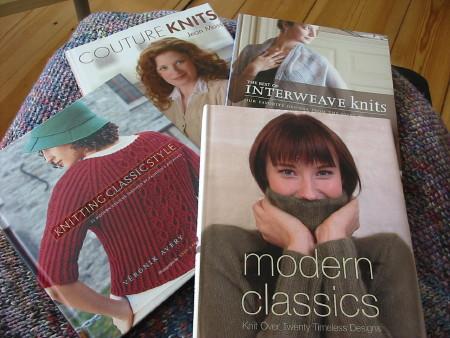 Various knitting books