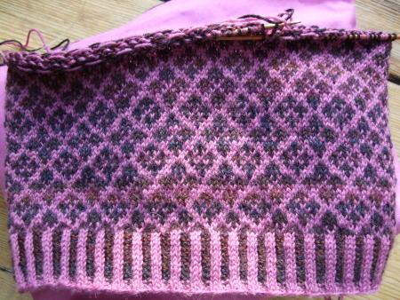 WIP Mini Fair Isle Sweater