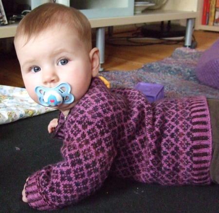 Baby's First Fair Isle sweater