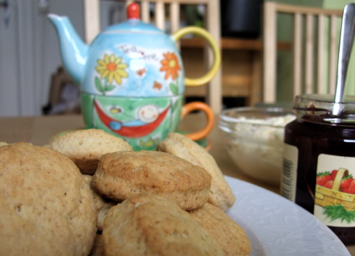 Tea Time with not quite scones