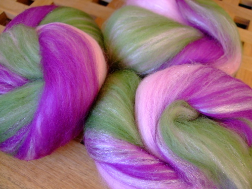 "Fiber Batts ""Pink Lady"""