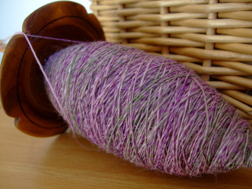 Singles spun on Forrester Linum Light Drop Spindle