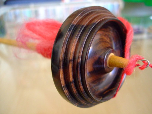 Spun Single on Greensleeves Spindle