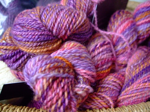 ZigZag Falkland wool top spun into 2-ply yarn