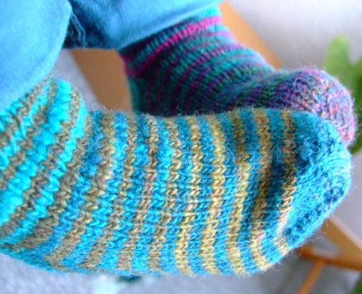 Noro mini socks - with stripes