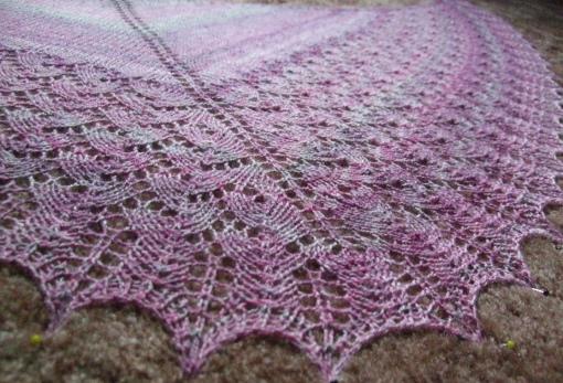 Isabel shawl handspun