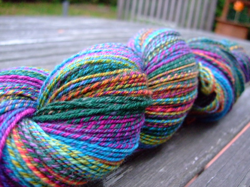 Hand-spun 3-ply  yarn