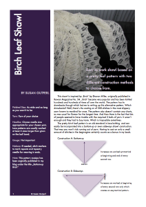 New Birch Leaf Shawl Pattern