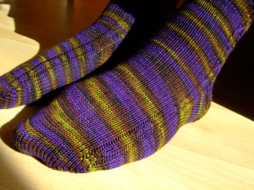 Wollmeise Socks, colorway 'Tant Grön ...'