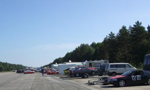 Autocross paddock