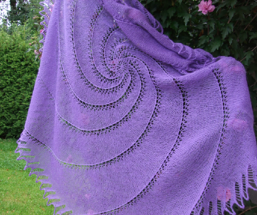 Super-Spiral Shawl