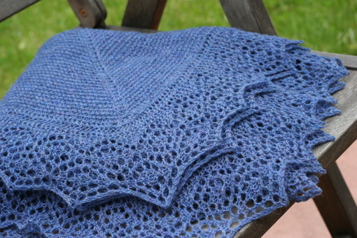 Stonington Shawl - lace edging