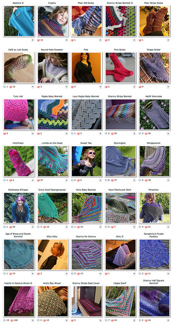 Knitting projects 2011