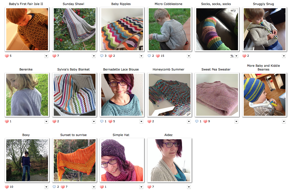 Ravelry Projects 2014