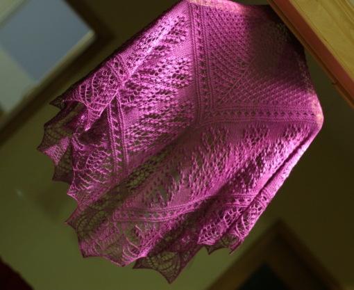 Hearts in Estonia Triangle Shawl