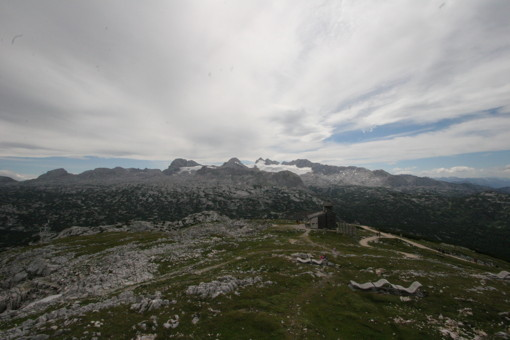 View to Dachstein glacier from mount Krippenstein