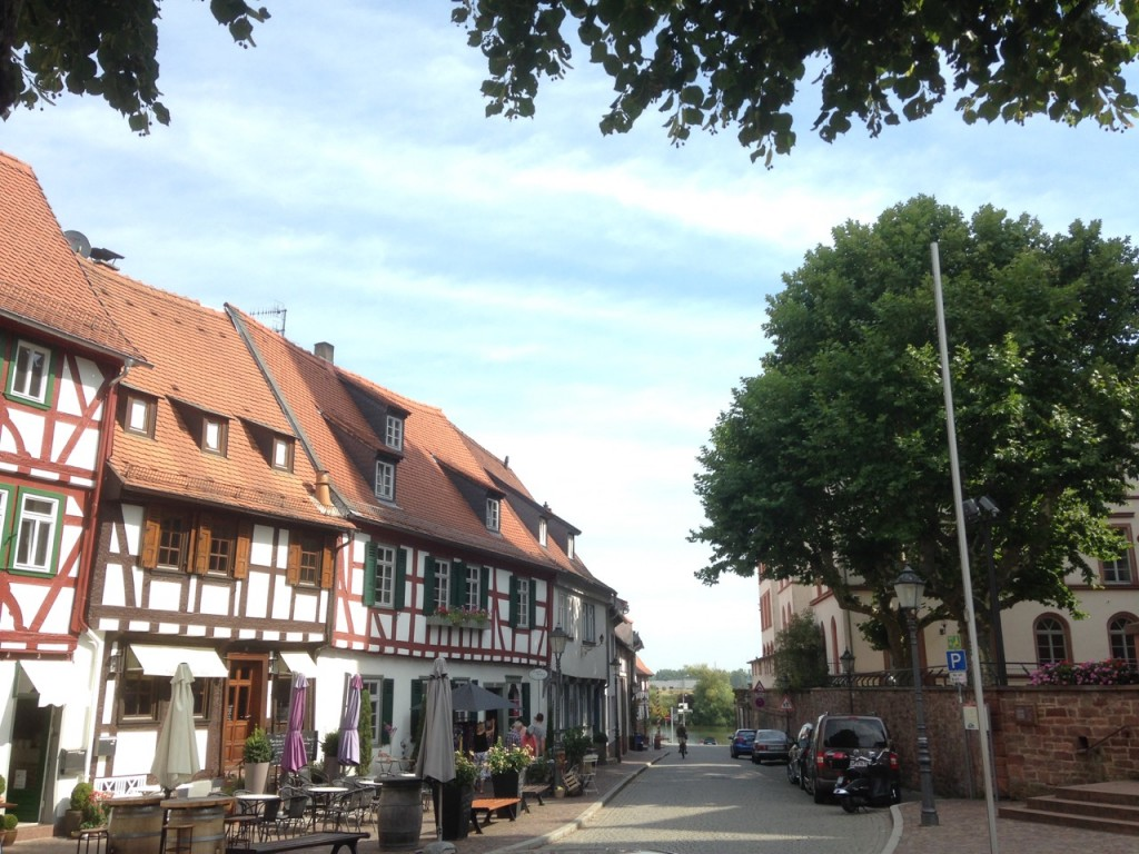 Seligenstadt at the river Main