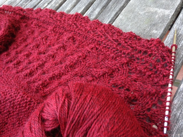 Bridgewater shawl in progress