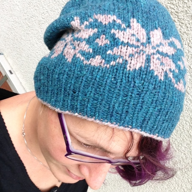 Snow Stars Hat in action