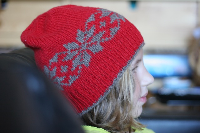 Snow Stars hat kids, red