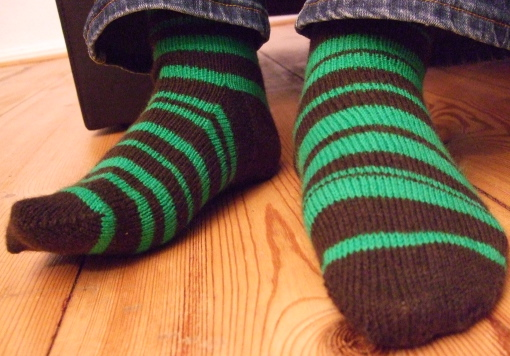 Fun socks with interesting stripes