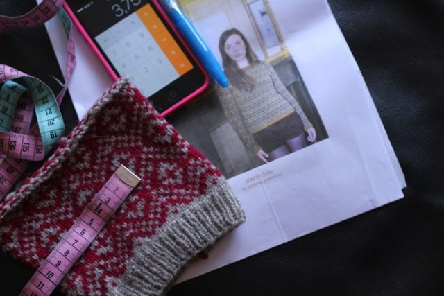 North dale Fairisle Sweater Swatch / Maschenprobe