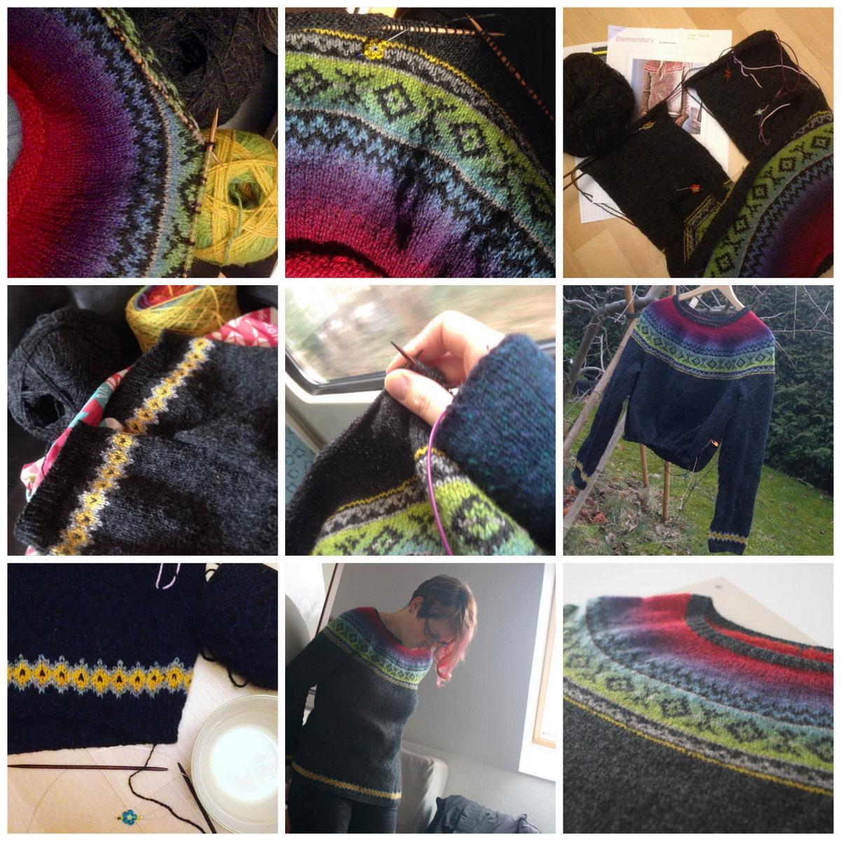 Elementary sweater by Isabell Kraemer, Garn: Kauni Uni und Effekt