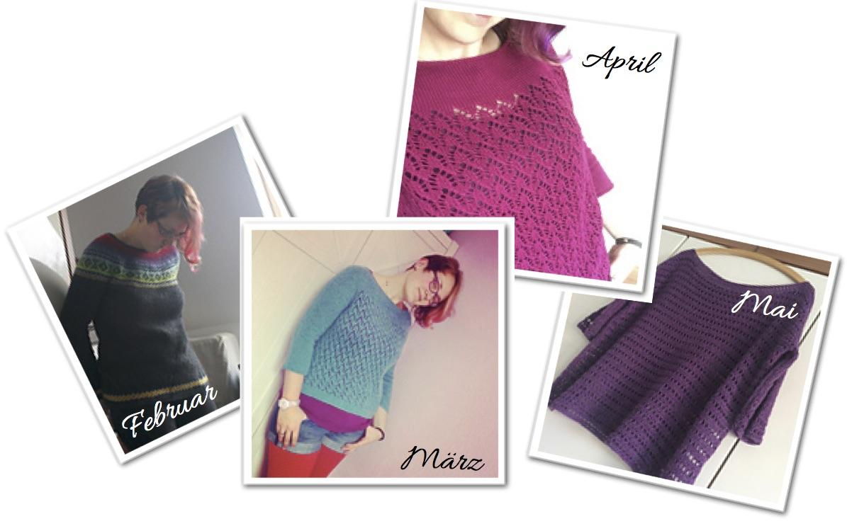 Vier Monate, vier selbst gemachte Pullover