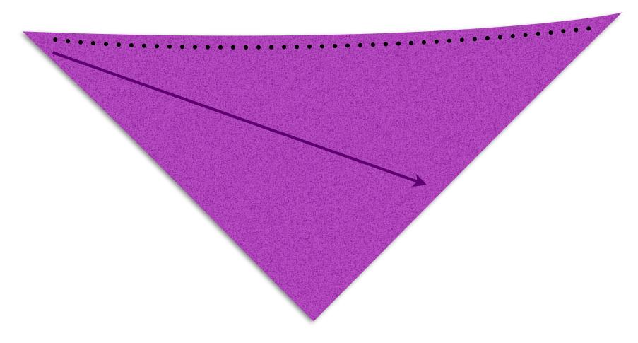 Dreieckstuch schräg gestrickt