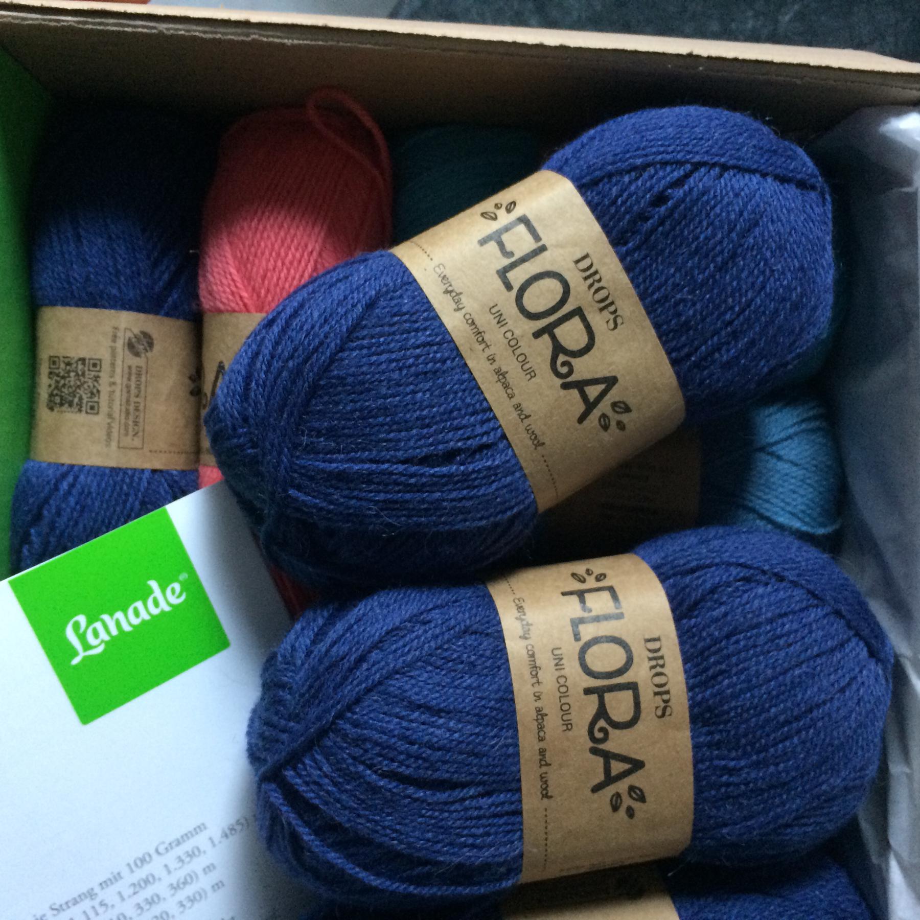 Neues Garn: Drops Flora, 65% Wolle/35% Alpaka