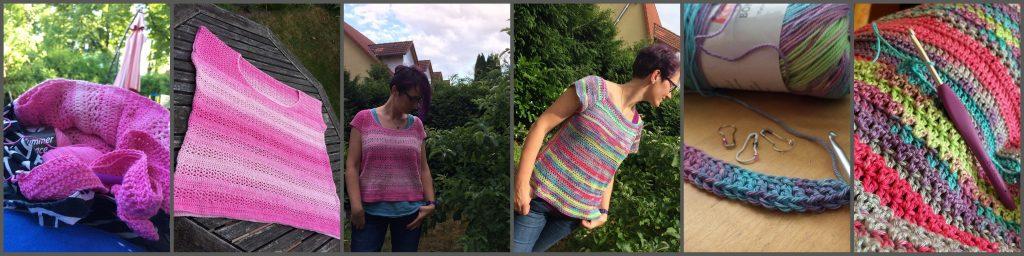 Gehäkelte T-Shirts - Schön für den Sommer