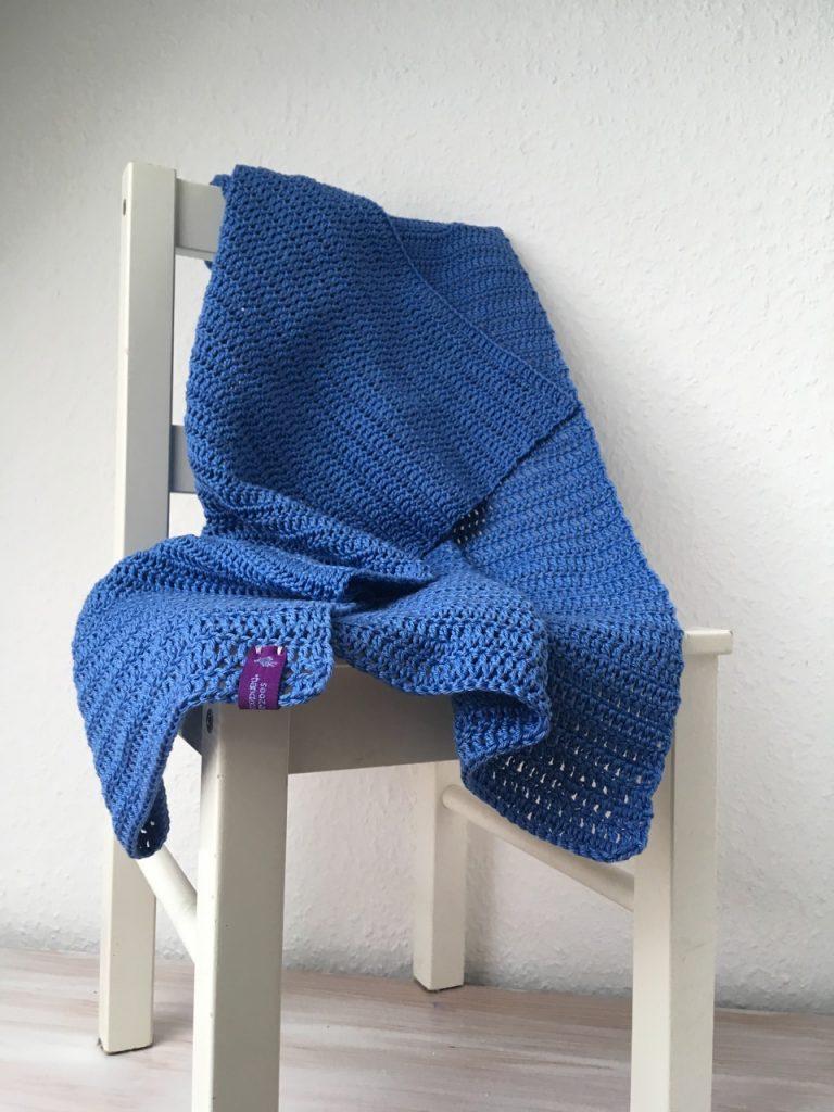"""""""Simplicity"""" gehäkelte Babydecke aus Baumwolle"""