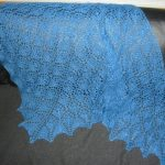 Flower Basket Shawl in Blue