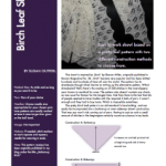 Revised pattern :: Birch Leaf Shawl ::