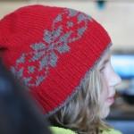Free pattern :: Snow Stars Hat ::