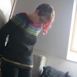 Strickrückblick Februar :: Ein Monat, ein Pullover ::