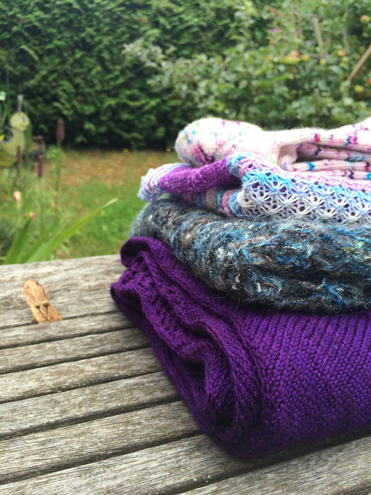Sommerstrickereien 2016 - 3 Tücher und 1 Paar Socken